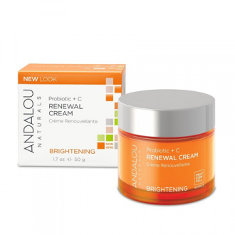 Andalou Naturals, Крем для лица «Пробиотики и витамин С», 50 г