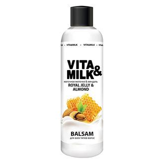Vita&Milk, Бальзам для волос «Миндаль и маточное молочко», 250 мл
