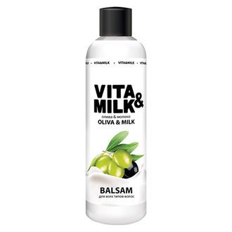 Vita&Milk, Бальзам для волос «Олива и молочко», 250 мл
