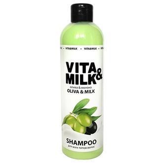 Vita&Milk, Шампунь для волос «Олива и молочко», 500 мл