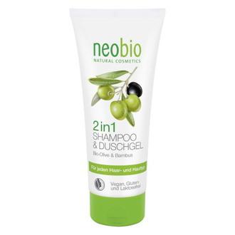 Neobio, Шампунь-гель для душа 2 в 1 Bio-Olive & Bambus, 200 мл