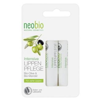 Neobio, Бальзам для губ Bio-Olive & Bio-Mandel, 2 шт.