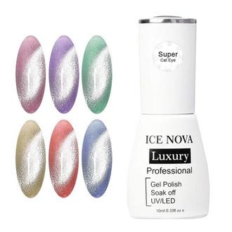 Гель-лак Ice Nova Кошачий Глаз Super 6D, 10 мл