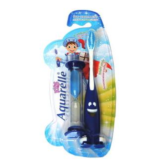 Aquarelle, Детская зубная щетка с песочными часами, синяя