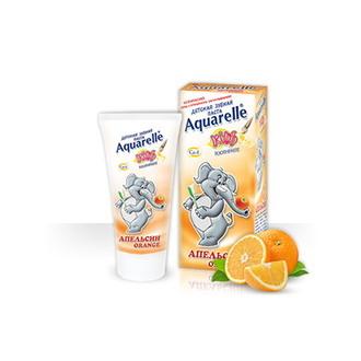 Aquarelle, Детская зубная паста «Апельсин», 50 мл