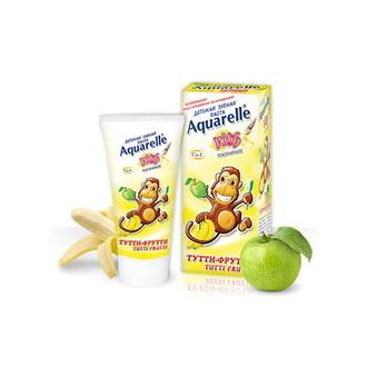 Aquarelle, Детская зубная паста «Тутти-фрутти», 50 мл