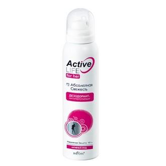 Белита, Дезодорант-антиперспирант Active Life «Абсолютная свежесть», 150 мл