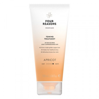 Four Reasons, Маска для волос Toning Treatment Apricot, 200 мл