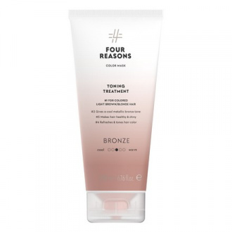 Four Reasons, Маска для волос Toning Treatment Bronze, 200 мл