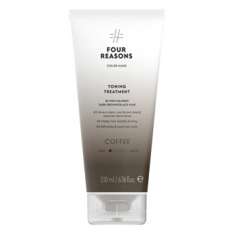Four Reasons, Маска для волос Toning Treatment Coffee, 200 мл