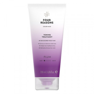Four Reasons, Маска для волос Toning Treatment Plum, 200 мл