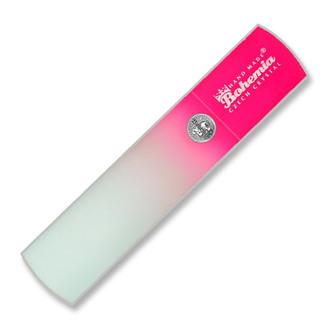 Bohemia, Пилка для педикюра, стеклянная, розовая, 135 мм, в чехле
