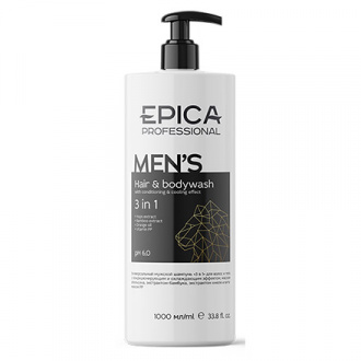 Epica, Шампунь для волос и тела Men's, 1 л