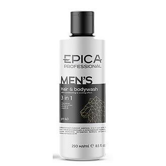 Epica, Шампунь для волос и тела Men's, 250 мл