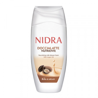 Nidra, Пена-молочко с аргановым маслом для ванны, 250 мл