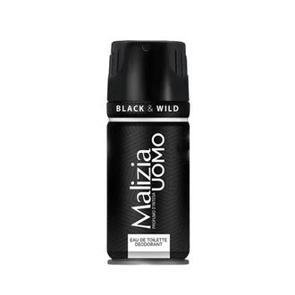 Malizia, Дезодорант-аэрозоль Uomo Black&Wild, 150 мл