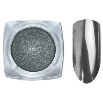 Cosmake, Зеркальная втирка для ногтей «Хром» №9, серая