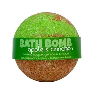 Savonry, Бурлящий шарик с пеной для ванны Apple & Сinnamon, 100 г