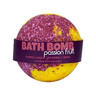 Savonry, Бурлящий шарик с пеной для ванны Passion Fruit, 100 г