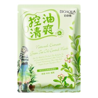 Bioaqua, Маска для лица Natural Extract Green Tea, 30 г