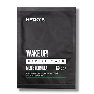HERO'S, Детокс-маска для лица Men's Formula, 20 г