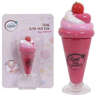 Зефирка, Детский лак для ногтей «Ягодное мороженое», 8,8 мл