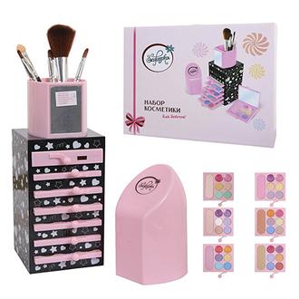 Зефирка, Набор декоративной косметики для девочек в кейсе «Помада»