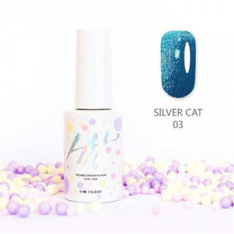 Гель-лак HIT Gel Silver Cat №03