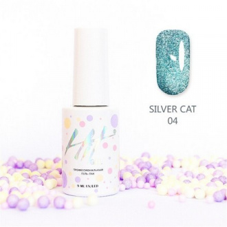 Гель-лак HIT Gel Silver Cat №04