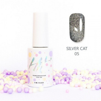 Гель-лак HIT Gel Silver Cat №05