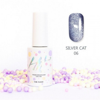 Гель-лак HIT Gel Silver Cat №06