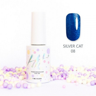 Гель-лак HIT Gel Silver Cat №08