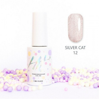 Гель-лак HIT Gel Silver Cat №12