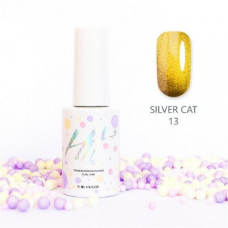 Гель-лак HIT Gel Silver Cat №13