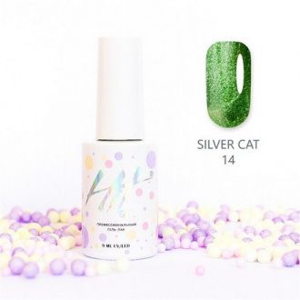 Гель-лак HIT Gel Silver Cat №14