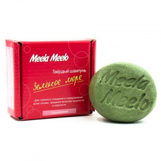 Meela Meelo, Твердый шампунь «Зеленое море», 85 г