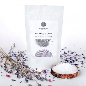 Salt of the Earth, Соль с маслами для ванны Balance & Calm, 500 г