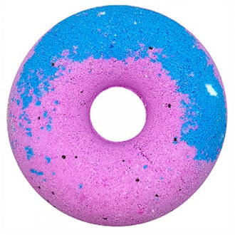 Cafemimi, Гейзер для ванны «Чернично-малиновый пончик», 140 г