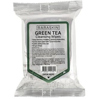Raraskin, Очищающие салфетки для лица Green Tea, 30 шт.