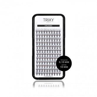 Trixy Beauty, Ресницы для наращивания Smart, 10 мм, 10 шт. в пучке