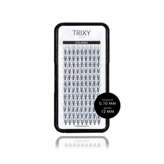 Trixy Beauty, Ресницы для наращивания Smart, 12 мм, 10 шт. в пучке