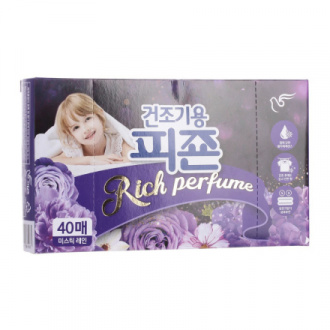 Pigeon, Кондиционер для белья Rich Perfume Mystic Rain, 40 шт.