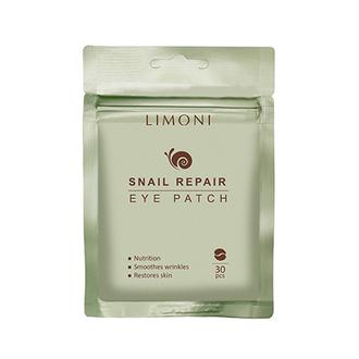 LIMONI, Патчи для век Snail Repair, 30 шт.