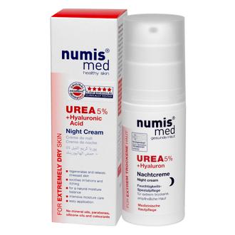 Numis Med, Ночной крем для лица Urea 5%, с гиалуроновой кислотой, 50 мл