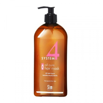 Sim Sensitive, Терапевтическая маска System4 Oil Cure Hair, 500 мл