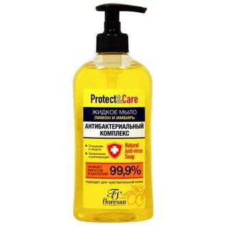 Floresan, Жидкое мыло для рук «Лимон и имбирь», 500 мл