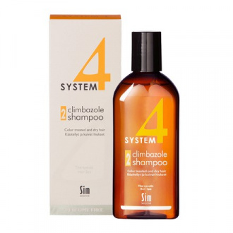 Sim Sensitive, Терапевтический шампунь System4 Climbazole №2, 215 мл