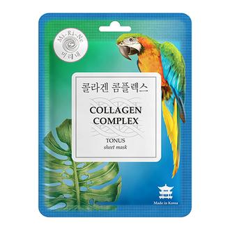 Mi-Ri-Ne, Тканевая маска для лица Collagen Complex, 23 г