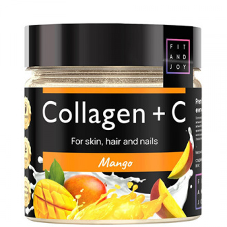 FIT AND JOY, Коллаген с витамином С, Mango, 150 мл