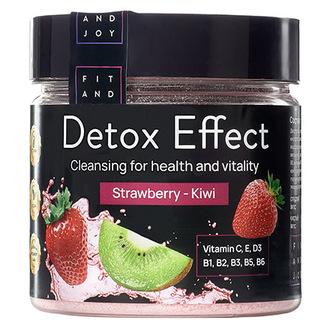 FIT AND JOY, Дренажный напиток Detox Effect Strawberry-Kiwi, 150 мл